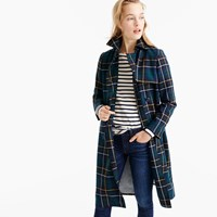 J.Crew Collection Trench Coat In Plaid