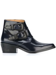 Toga Buckled Ankle Boots Blue