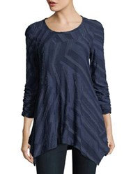 Context Three Quarter Frayed Blouse Dark Navy