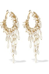 Rosantica Pascoli Gold Tone Mother Of Pearl Earrings