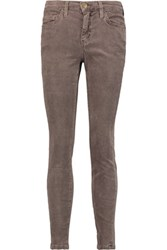 Current Elliott The Stiletto Corduroy Skinny Pants Brown