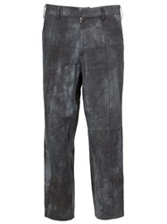 Aganovich Faded Print Cropped Trousers Grey