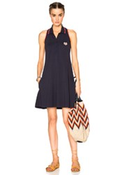 Kenzo Sleeveless Polo Dress In Blue