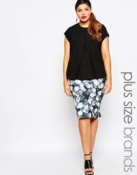 Lipstick Boutique Printed Pencil Skirt Blackwhite