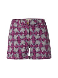 White Stuff Casa Printed Short Fuchsia