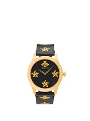 Gucci G Timeless Bee And Star Print Watch Black Multi
