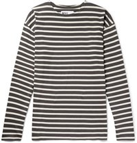 Margaret Howell Mhl Striped Cotton Jersey T Shirt Charcoal