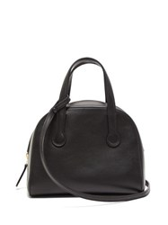 The Row Sporty Leather Bowling Bag Black