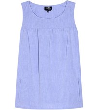 A.P.C. Sleeveless Cotton Top Blue