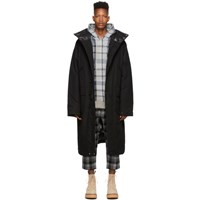 R 13 R13 Black Down Long Anorak Puffed Jacket