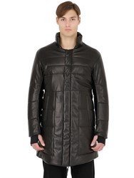 11 By Boris Bidjan Saberi Padded Nappa Leather Coat