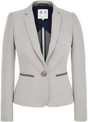 Austin Reed Signature Diamond Weave Jacket White