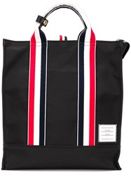 Thom Browne Rwb Webbing Nylon Tote Bag Black