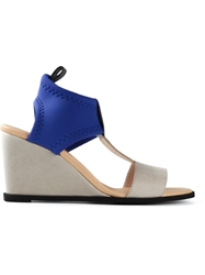Mm6 By Maison Martin Margiela Elasticated Ankle Strap Wedges Blue