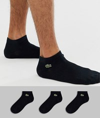Lacoste Sport 3 Pack Trainer Sock In Black