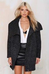 Nasty Gal Big City Boucle Coat