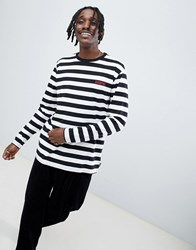 Diamond Supply Co. Striped Long Sleeve T Shirt With Logo White