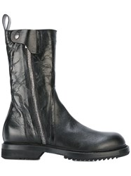 Rick Owens Army Inspired Boots Black