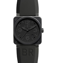 Bell And Ross Br0392 Aviation Black Pvd Coated And Rubber Watch