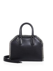 Stella Mccartney Mini Faux Leather Top Handle Satchel Ebony