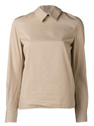Golden Goose Deluxe Brand Back Ruffled Shirt Nude Neutrals