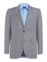 Chester Barrie Men's Blue Check Jacket Prussion Blue