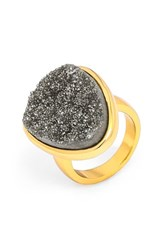 Women's Baublebar Drusy Cocktail Ring Grey Gold