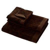 Roberto Cavalli Logo Towel Brown 833 Bath Sheet