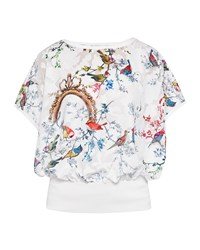 Ted Baker Maycet Opulent Fauna Blouson Top White