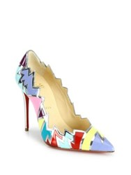 Christian Louboutin Explotek Zigzag Leather Pumps Multi