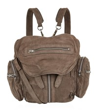 Alexander Wang Marti Washed Leather Backpack Female Brown