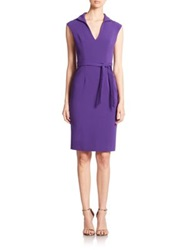 Black Halo Brittan Sheath Dress Purple Rain