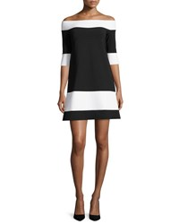 La Petite Robe Di Chiara Boni Suvi Off The Shoulder Jersey A Line Dress Black