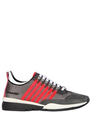 Dsquared 251 Striped Nylon And Suede Sneakers