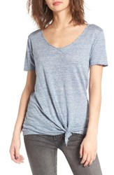 Blank Nyc Women's Blanknyc Knotted Linen Tee
