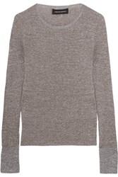 Vanessa Seward Champ Metallic Knitted Sweater Silver