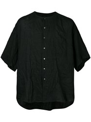 Forme D'expression Oversized Shortsleeved Shirt Black