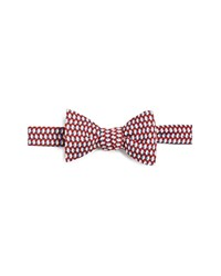 Brooks Brothers Self Tie Penguin Snowflake Bow Tie Navy