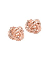Lord And Taylor 14K Rose Gold Knot Earrings