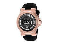 Michael Kors Dylan Display Smartwatch Mkt5010 Black Silicone Rose Gold Watches