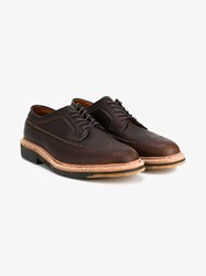 Alden Long Wing Leather Brogues Brown White
