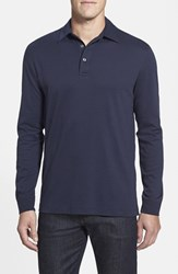 Men's Big And Tall Cutter And Buck 'Belfair' Pima Cotton Polo Liberty Navy
