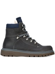 Moncler Lace Up Ankle Boots Grey
