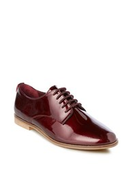 Dune Flossy Round Toe Lace Up Shoes Burgundy