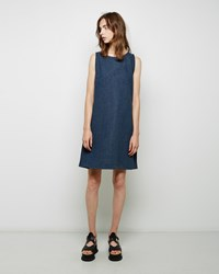 Maison Martin Margiela Blocked Denim Dress Blue Multi