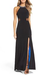 Sequin Hearts Women's Embellished Jersey Gown