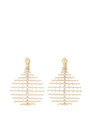 Fernando Jorge Diamond And Yellow Gold Disco Earrings