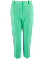 Almari Spot Quilted Trouser Green