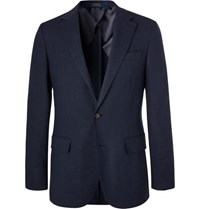 Polo Ralph Lauren Navy Slim Fit Unstructured Woven Blazer Navy