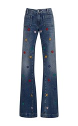 Seafarer Penelope Embroidered Flare Jeans Dark Wash